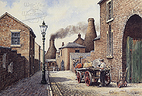 Packhorse Lane Burslem - a classic picture of the Potteries