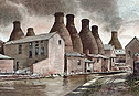 A Pottery Skyline - a pictures of the potteries Classic Middleport