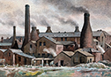 an image of the Gladstone bottle ovens from our pictures of the potteries
