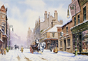 Piccadilly Hanley in the snow a seasonal look to pictures of the potteries click for details